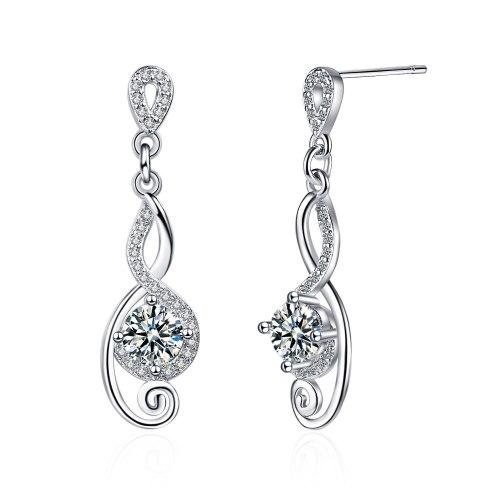 Women's Long Stud Earrings Korean Style Simple Personality Temperament Inlaid Zirconium Diamond Line Ear Rings Xzed917