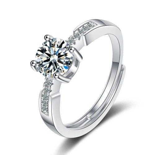 Flash Zirconium Diamond Ring Open Mouth Design Fashionable Temperament Ring Women's Ring Bracelet XzJZ377