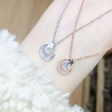 Korean Fashion Moon XINGX Necklace Simple Temperament Douyin Online Influencer Clavicle Chain Female Ornament Hy442