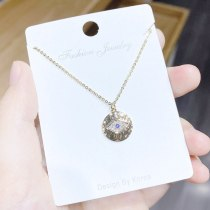 3A Zircon Personality Devil's Eye Necklace Female Jewelry Clavicle Chain 14K Gold Necklace Female Jewelry Wholesale Yhx391