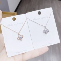 Trendy Korean Style Necklace Women's Natural Flower Design Necklace Clavicle Chain Wholesale Accessories Yhx477
