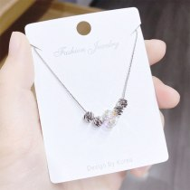 INS Fashion Simple All-Match round Beads Necklace Korean New Fashion Girl Clavicle Chain Pendant Small Jewelry Wholesale