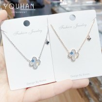Four-Leaf Clover Single-Sided Necklace  Women's Fritillary Necklace Korean Necklace hy032