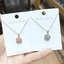 Korean Style Fashion Retro Rose Ins Necklace Simple Clavicle Chain Women's Necklace Jewelry Wholesale