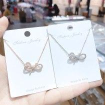 Korean New Necklace Clavicle Chain Female Super Fairy Sexy Bow Pendant