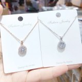 3A Zircon Necklace Personalized Female Clavicle Chain Pendant Necklace Women's Jewelry
