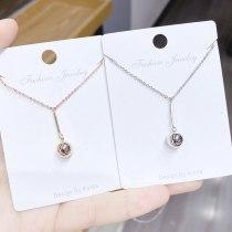 Fashion Simple Ball Geometric Temperament Necklace Korean All-Match Clavicle Chain Girl Pendant