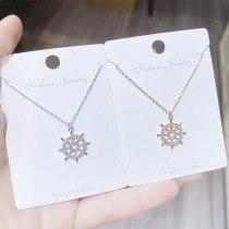 Korean Retro Rudder Necklace Women's Fashion Pendant Simple Temperament Personality Clavicle Chain Necklace Jewelry Wholesale