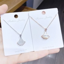 Korean Style Fan-Shaped Small Skirt Necklace Female Clavicle Chain Pendant Fashion Necklace Wholesale Jewelry