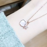 Korean Fashion Women's Necklace Starfish Shell Pearl Necklace Trendy Clavicle Chain Pendant