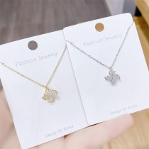 Rotatable Windmill Necklace Korean Children's Funny Girl Heart Simple Rotating Clavicle Chain Pendant Girlfriend Jewelry
