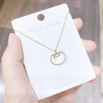 Necklace Women's Korean-Style Fresh Light Bead Longevity Lock Shell Clavicle Chain Women's Necklace Ornament Wholesale