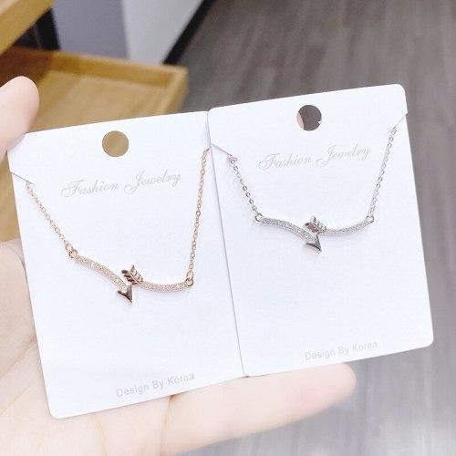 New Aishen Arrow Necklace Women's Copper Plated Gold Necklace Ornament Clavicle Chain Pendant Wholesale