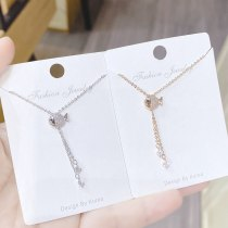 New Fish Necklace Women's Tassel Korean Style Clavicle Chain All-Match Electroplated Real Gold Necklace