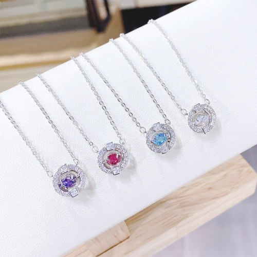 Beating Heart Necklace Women's Korean-Style Smart Clavicle Chain Pendant Necklace Ornament Wholesale