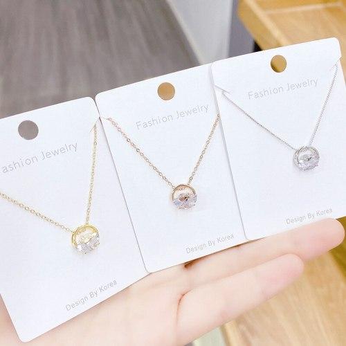 Japanese Style Light Luxury Ornament Necklace Women's Zircon Necklace Pendant Clavicle Chain Women