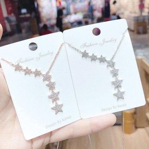 Mori Girl Temperament Star Necklace Clavicle Chain Pendant Necklace Wholesale