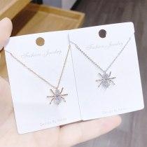 European and American Ins Spider Pendant Women's Necklace Versatile Trendy Zircon Clavicle Chain Necklace Ornament