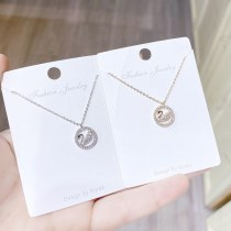 Necklace for Women New Fashion Ins Simple Swan Pendant Jewelry Fashion Jewelry Clavicle Chain for Women