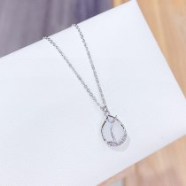 New Rose Chalcedony Necklace Women's 14K Gold Clavicle Chain Korean Fashion Jewelry Necklace Jewelry Wholesale