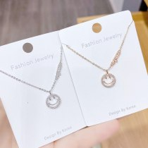 Korean Smiley Face Necklace Pendant Simple Fashion Personality Student Girlfriends Gift Clavicle Chain Pendant Female Jewelry