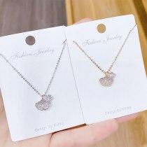 Korean Fashion Personalized Apricot Leaf Women's Necklace Japanese Korean All-Match Clavicle Chain Pendant Necklace Wholesale