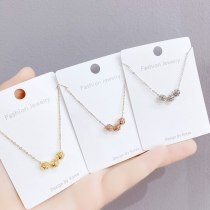 Hollow Necklace Women's Electroplated Real Gold Pendant Simple Student Short Ins Clavicle Chain Jewelry