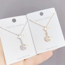 Korean Style Clover Fritillary Necklace Women's Gold Plated Clavicle Chain Elegant Necklace Fashion All-Match Pendant Jewelry