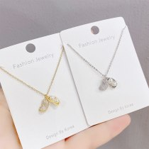New Korean Style Peanut Pendant Necklace Pearl Women's Necklace Trendy Full Diamond Clavicle Chain Jewelry
