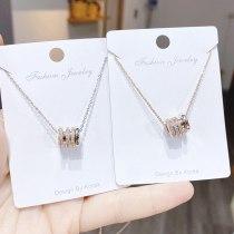 Fashion Geometric Element Necklace Women's Korean-Style Small Waist Clavicle Chain Pendant Jewelry Ornament