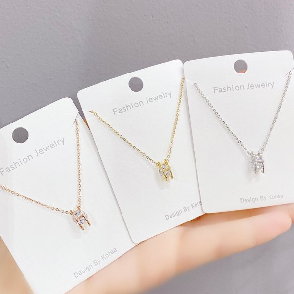 Light Luxury H Letter Necklace Women's Korean-Style Clavicle Chain Pendant Elegant Mori Fresh All-Match Simple Jewelry