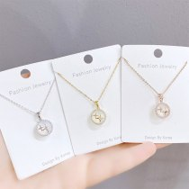 New round Necklace Clavicle Chain Environmental Ornament Japanese and Korean Simple Elegant All-Match Necklace for Women