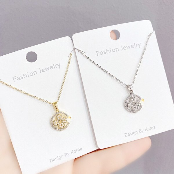 New Style Micro Inlaid Zircon Clover Necklace Personalized Clavicle Chain Pendant Creative Jewelry Gift