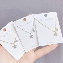 Micro-Inlaid Diamond XINGX Necklace Female Clavicle Chain Five-Pointed Star Pendant Rhinestone Fashion Ins Fashion Ornament