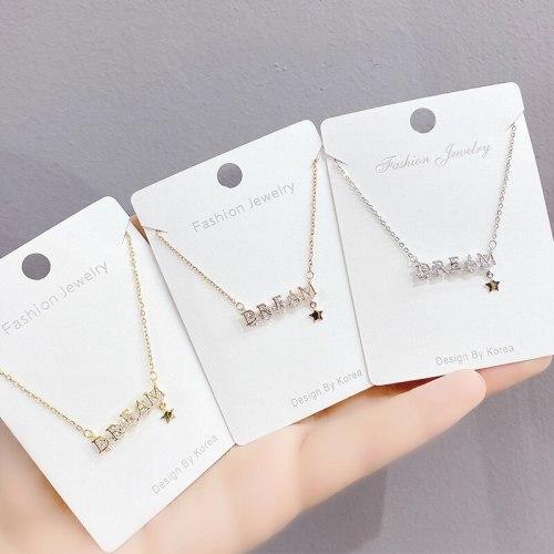 Necklace Women's Fashion Romantic Creative English Letter Dream Diamond Clavicle Necklace Women's Jewelry