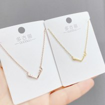 Korean Fashion Women Necklace Animal Elk Pendant Antlers Necklace Clavicle Chain Jewelry