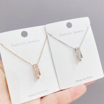 INS Fashion Personalized All-Match Zircon Necklace Elegant Letter Clavicle Chain Necklace