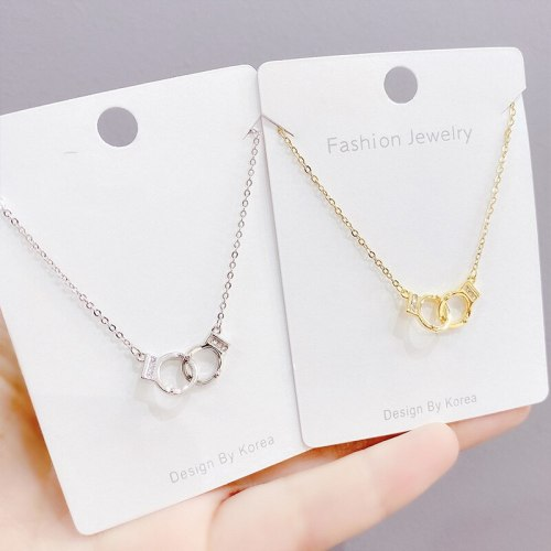 European and American Fashion Popular Necklace Ornament Simple Handcuffs Necklace Clavicle Chain Pendant Female