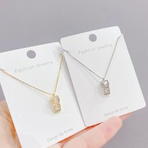 Japanese and Korean Creative Popular Necklace Women's Simple Personality Zircon Whistle Clavicle Chain Pendant Wholesale
