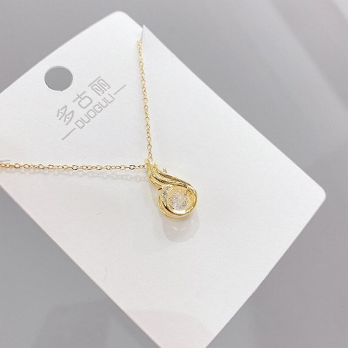 Dancing Crown Smart Necklace Female Micro Inlaid Zircon Pendant Five-Pointed Star Korean Style Short Clavicle Chain Pendant
