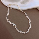Pearl Clavicle Chain Necklace Korean Style Ins Style Exquisite Irregular Necklace Women's Necklace