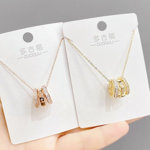 Small Waist Necklace Women's Elegant New Fashion Clavicle Chain Pendant Simple Ins Niche Jewelry Wholesale