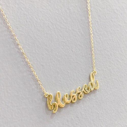 Electroplated Gold Letter Necklace Women's European and American Fashion Clavicle Chain Pendant Necklace Ornament