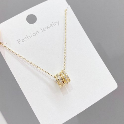 2021 New Small Waist Necklace Women's Clavicle Chain Pendant Gold Plated Ins Fashion Ornament