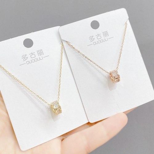 Korean Small Waist Necklace High-Grade INS Simple Elegant Titanium Steel Necklace Light Luxury Pendant Necklace Ornament