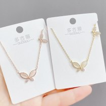 Butterfly Necklace Female Clavicle Chain Ins Necklace Simple Temperament Jewelry