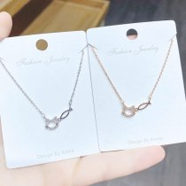 Fresh Simple All-Match Cat Fish Necklace Japanese and Korean New Popular Clavicle Chain Necklace