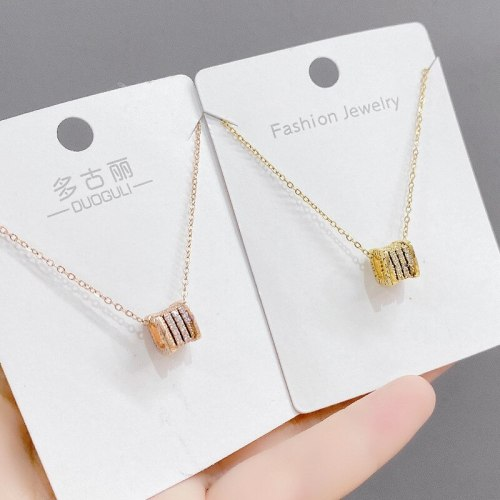 Small Waist Necklace Women's Korean-Style Fashion Student Simple Geometric Pendant Clavicle Chain Small Fresh Ins Ornament