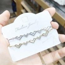 Korean Style Ins Love Bracelet Peach Heart Love Adjustable Bracelet Jewelry Zircon Bracelet Wholesale 004