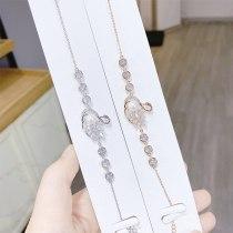 Fashion Sweet Swan Bracelet Korean Style Diamond Pearl All-Match New Bracelet Jewelry